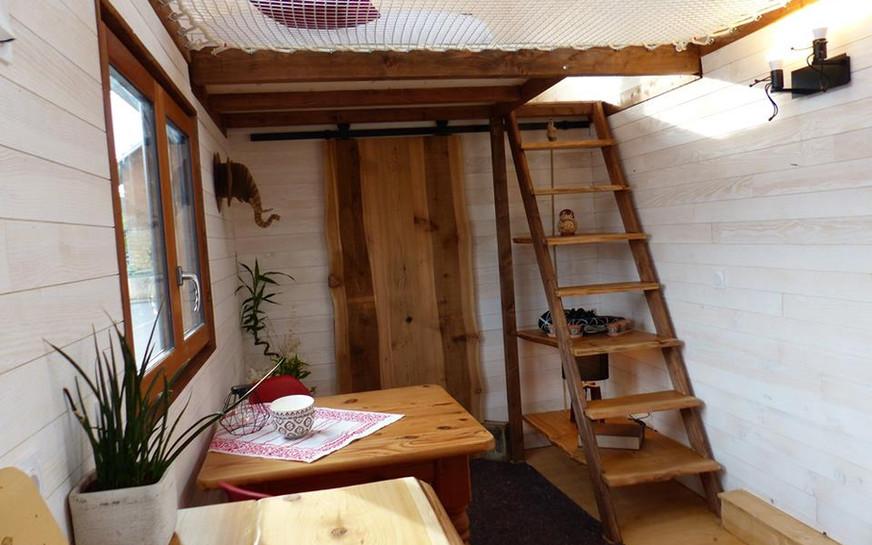 escalier tiny house canopée