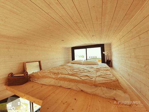 couchage mezzanine Tiny House d'Aurelie