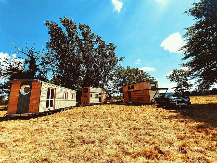 tiny houses aurelie roulotte et Canopee