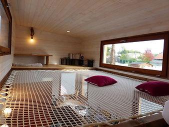 filet intérieur tiny house canopée