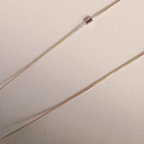 Geel goud vergulde zilveren lange ketting