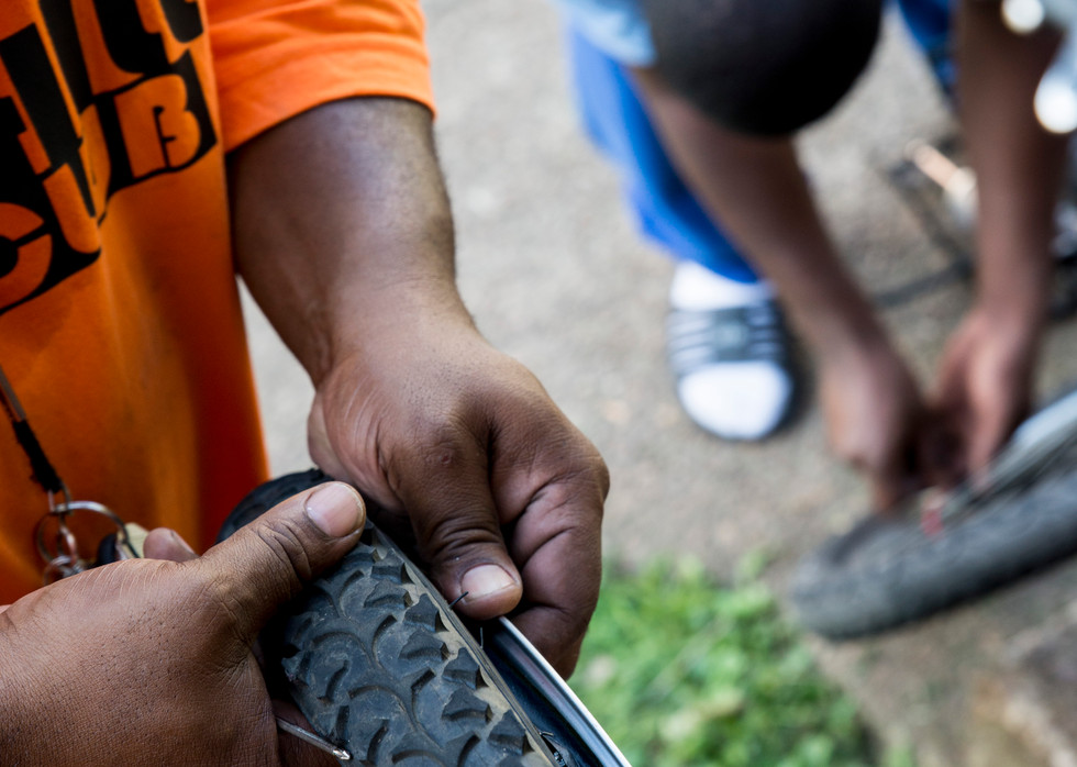 """Key wants to do more than just give kids bikes. He wants to give them something to feel good about, """"If you can make a kid smile, you can make a kid to be a friend,"""" said Key. Making the difference in the community he knew he could."""