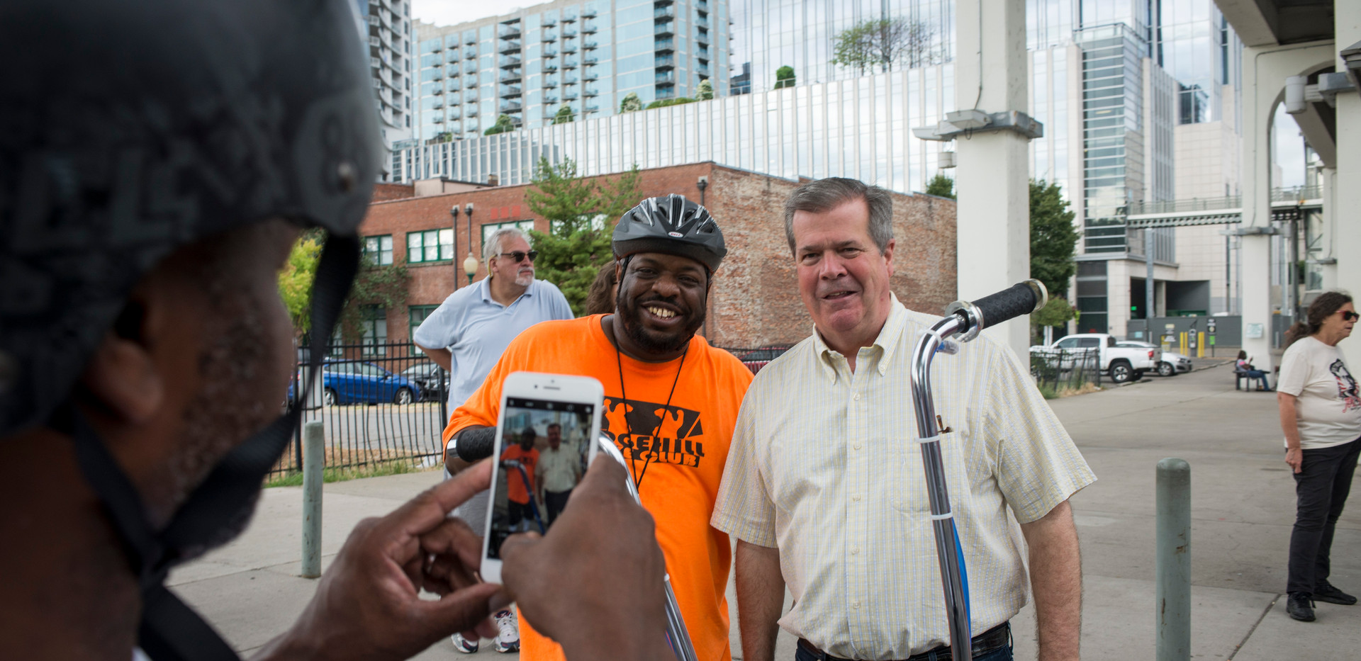 Key poses with former mayor of Nashville, Karl Dean. Despite reaching out to politicians and other city leaders, Key has gotten minimal support from the city.