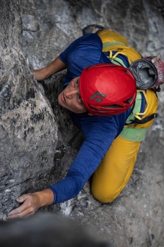 Mallorie sending at a former sorta-secret crag in western Washington (Photo Courtesy: Mallorie Estenson)