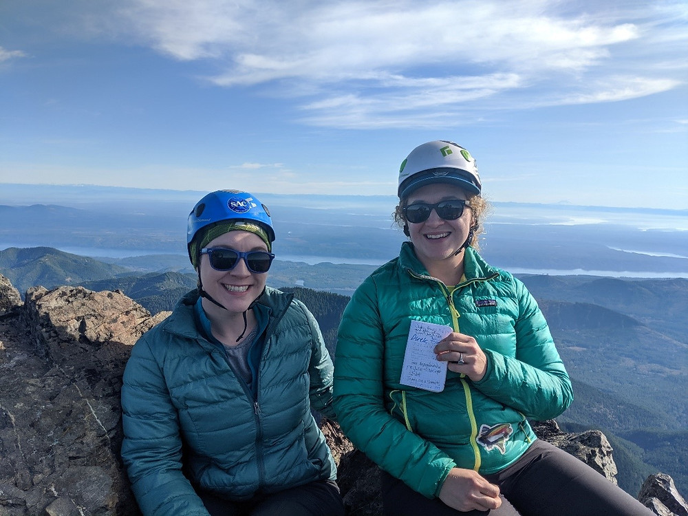 Juliet climbing Mt Washington on a beautiful November day.