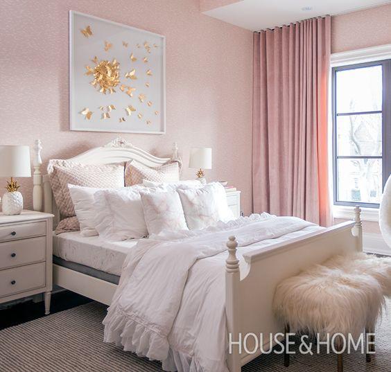 girl's bedroom pink