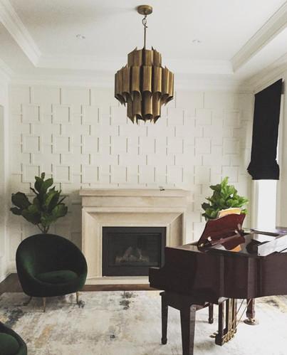 fireplace piano light pendant