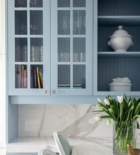 Blue cabinets Kitchen