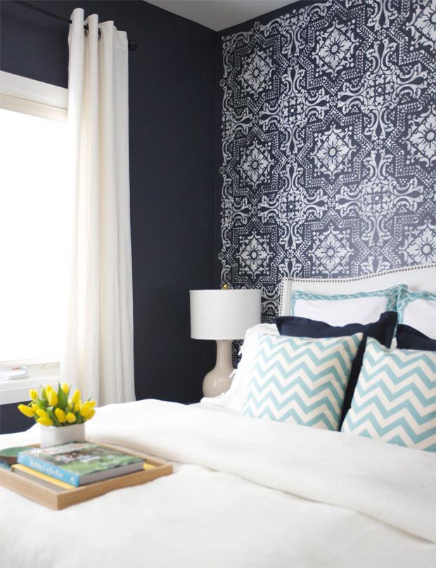 bedroom blue wallpaper