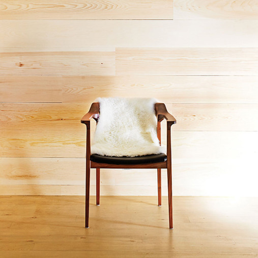 wooden chair wooden wall