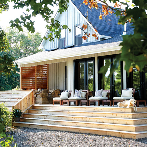country home front porch exterior