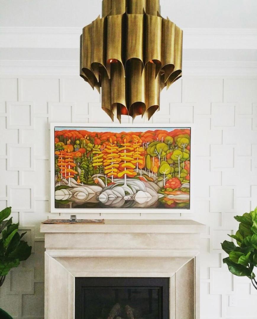 Light fixture fireplace