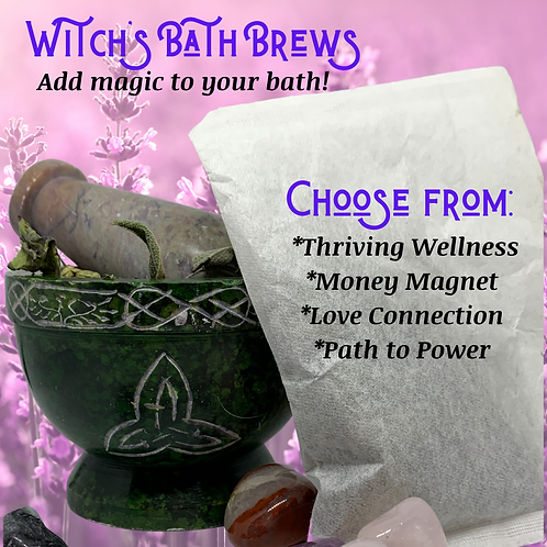 WITCH'S BATH BREW: Magically Charged Herbal Bath Tea