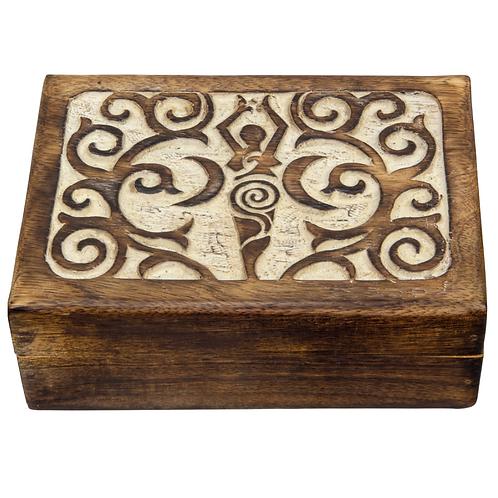 Carved Wooden Box - Goddess