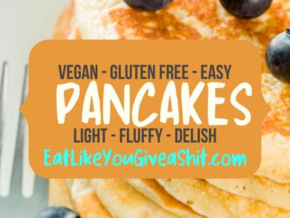 Fluffy, Easy, Vegan, Gluten-Free Pancakes