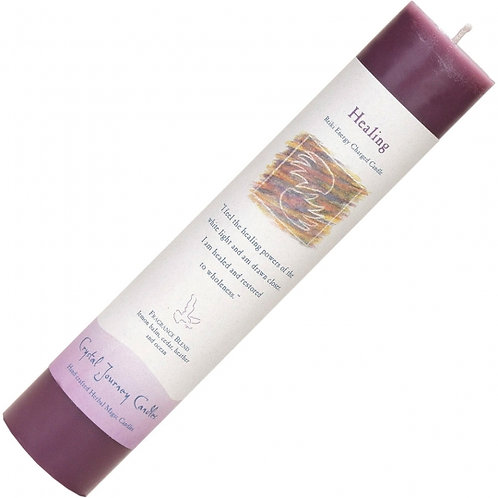 HEALING Reiki Herbal Pillar Candle