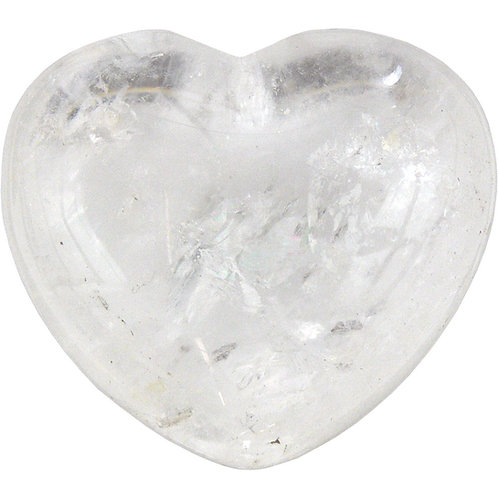 Puffed Gemstone Heart - Quartz Crystal