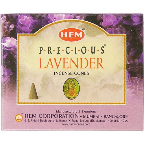 Incense Cones, Lavender (Box of 10)