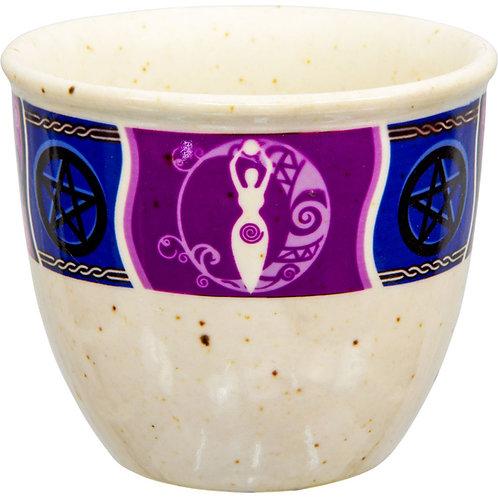 Small Ceramic Smudge Pot: Goddess