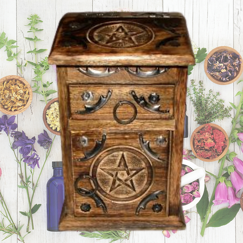 Herb Chest - Pentacle WITH FREE HERBS