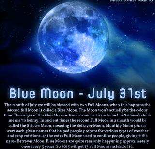 Blue Moon Lammas Eve Thoughts
