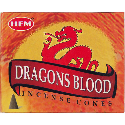 Incense Cones, Dragon's Blood (Box of 10)