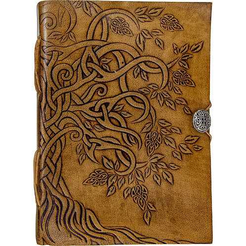 Leatherbound Journal with Button Closure