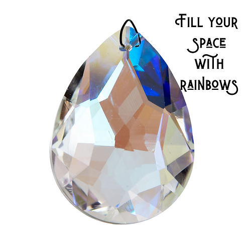 Crystal Prism, Deluxe Faceted 50 mm Pear