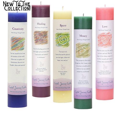 Reiki Energy-Charged Herbal Pillar Candles