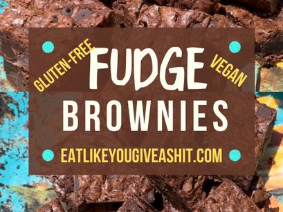 VEGAN, GLUTEN-FREE FUDGE BROWNIES