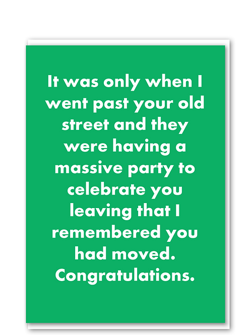 Celebrate you leaving