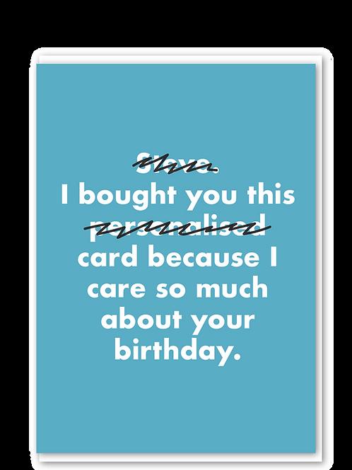 Personalised card