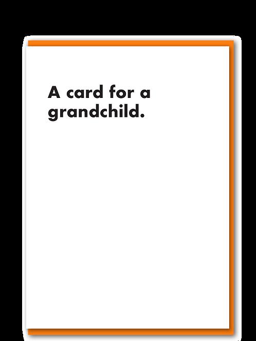A card for a grandchild
