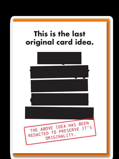 Last original card idea