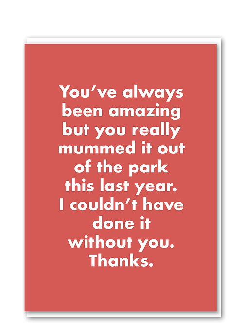 Mummed it out of the park card