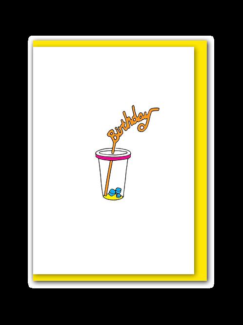 Birthday straw