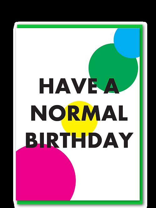 Normal Birthday