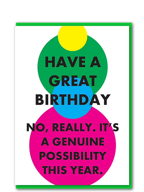 Great Birthday Possible