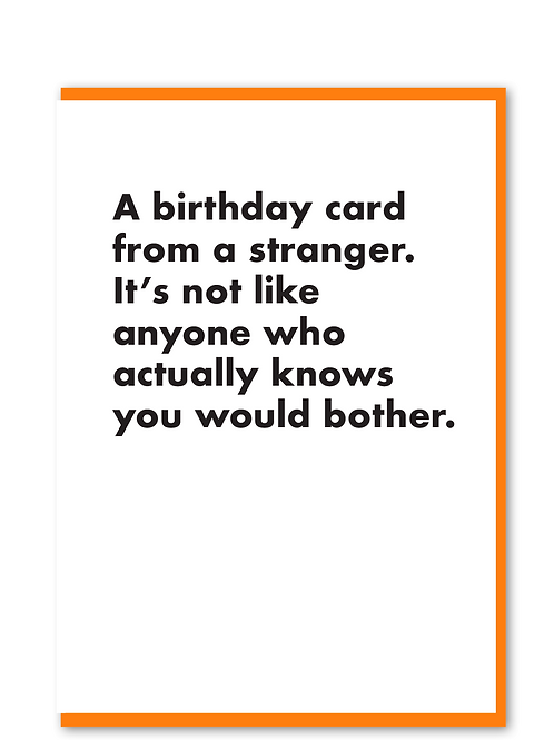 Birthday Card Stranger