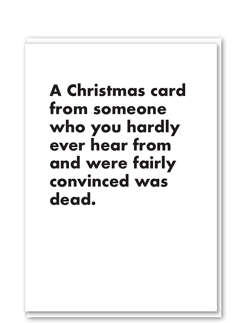 Christmas card from someone you thought was dead