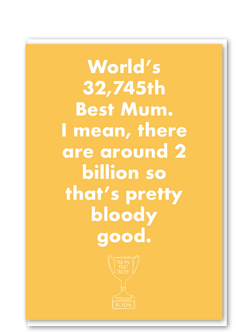 2 Billion mothers day card