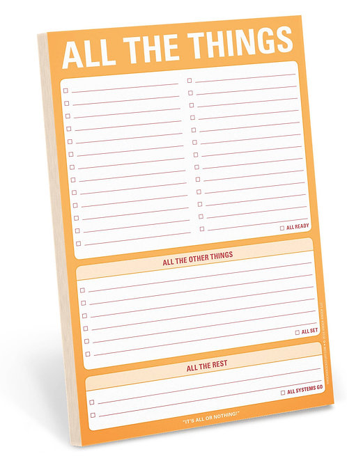 All the things note pad