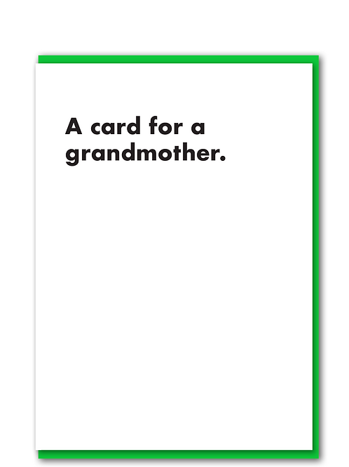 A card for a grandmother