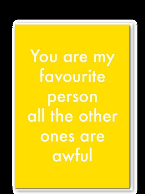 Favourite Person