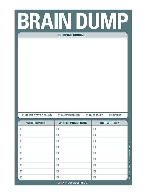 Brain Dump note pad