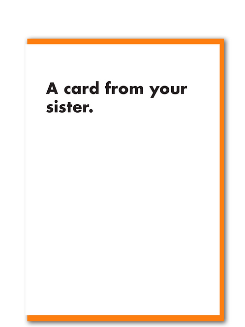 A card from your sister