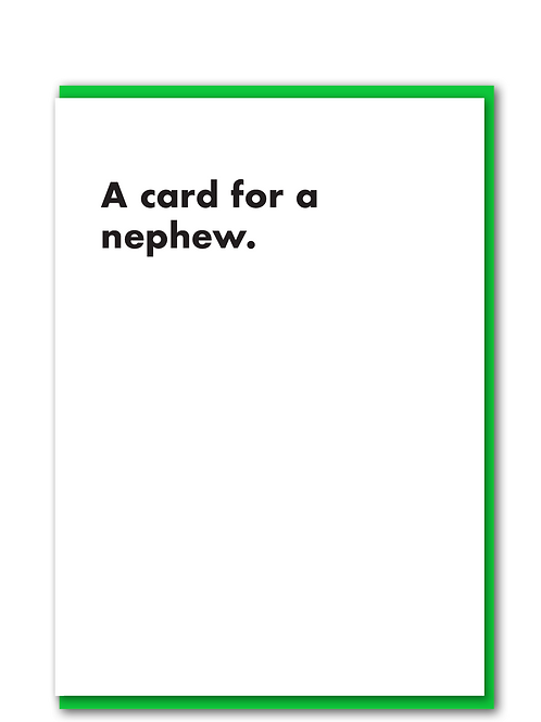 A card for a nephew