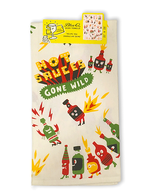 Hot Sauce gone wild TeaTowel