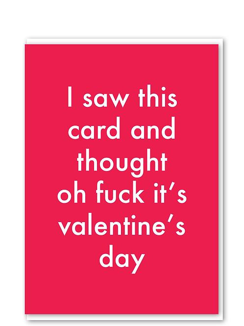 Saw This Valentine's Card