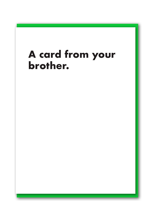 A card from your brother